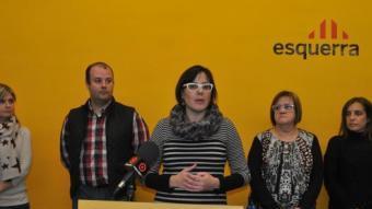 Ester Alberich (al centre) forma part de l'executiva d'ERC al Camp de Tarragona Foto:Reusdigital.cat