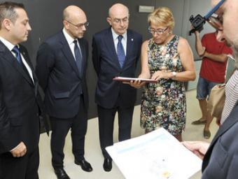 D'esquerra a dreta, Josep Medina, Ricardo Conde, Miguel Àngel Gimeno i M. Josep Feliu Foto:Ramon Ferrandis