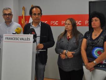 Francesc Vallès, acompanyat dels regidors del PSC a Reus Foto:Reusdigital.cat