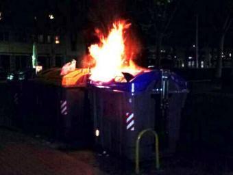 El jove està acusat de cremar un contenidor Foto:Cedida