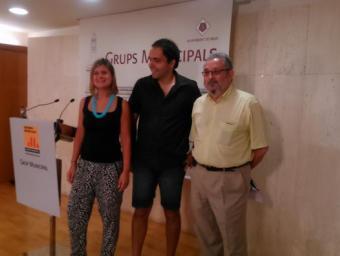 Llauradó, Baiget i Guix han anunciat que ERC impulsarà un procés participatiu Foto:Marc Busquets
