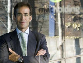 El conseller delegat de MAT Holding, Pau Relat, a la seu de l'empresa a Parets