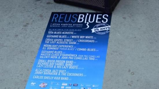 Cartell amb la programació del 'Reus Blues' Foto:Clàudia Ruiz