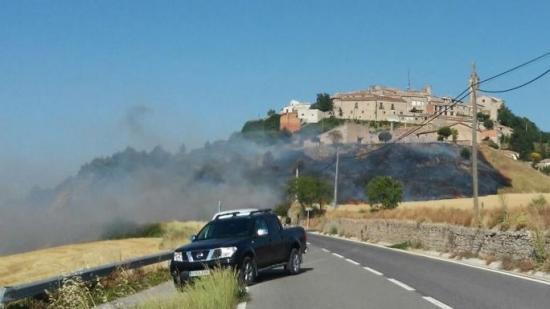 Focs a Vilanova del Camí i Aguiló Foto:Info Anoia