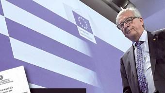 Jean-Claude Juncker, president de la CE, ahir a Brussel·les J.T. / AFP
