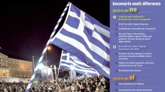 Una de les protestes d'aquesta setmana a la plaça Syntagma, a Atenes A. Solaro / AFP