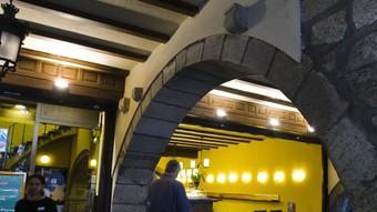 El local de la Rambla on hi havia el cafè Norat, que va ser l'escenari del naixement del Girona.  Foto:LLUÍS SERRAT