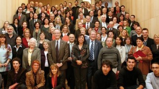 Tots els premiats d'entitats i institucions que impulsen projectes. Foto:DO Empordà