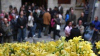 Un dels muntatges de Temps de Flors. Foto:LLUÍS SERRAT
