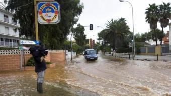 Les zones baixes de Dénia han tornat a patir l'efecte de les pluges. Foto:ARXIU