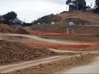 Els afectats per les obres al tram nord de l'N-II volen compensacions perquè Foment ho ha deixat tot a mig fer.  Foto:ARXIU