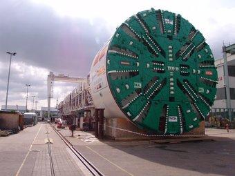 Una de les tuneladores de les obres del TGV a Catalunya. Les infraestructures són claus pel país.  Foto:DAVID BRUGUÉ