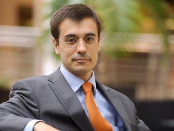 Amadeu Altafaj en el seu despatx a Brussel3les.  Foto:L'ECONÒMIC