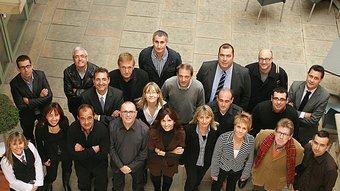 Els directors dels departaments de les àrees de gestió i comercial, Foto:MANEL LLADÓ