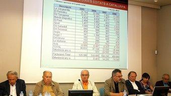 El consell d'administració d'Hermes Comunicacions, SA.   Foto:MANEL LLADÓ