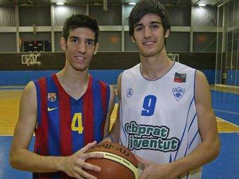 Carlos (esquerra) i Àlex (dreta) van decidir-se ells mateixos pel Barça i la Penya /  Foto:JUANMA RAMOS