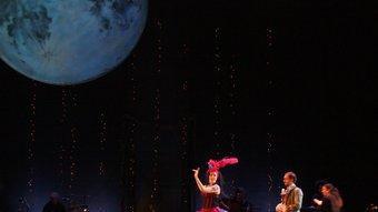 Marina Abad i Xavier Ripoll, en un moment de 'Lola, la comedianta'. Foto:T. TÀPIA / ACN