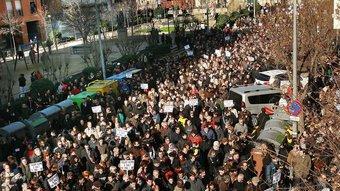 Imatge de la manifestació de dissabte passat a Salt Foto:MANEL LLADÓ