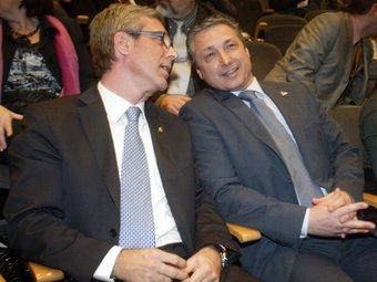 L'alcalde Ballesteros i Mario Rigau.  Foto:JUDIT FERNÀNDEZ