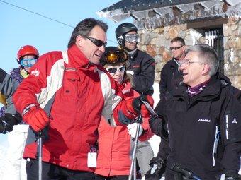 Artur Mas durant la gravació del programa.  Foto:TVC