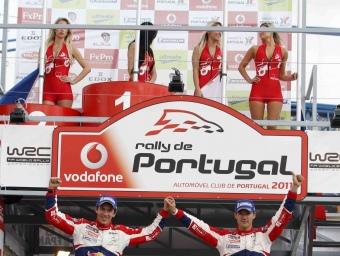 Ogier celebra el triomf al final de la cursa.  Foto:EFE
