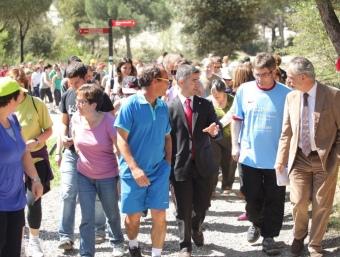 Una imatge de la passejada per la Universitat Autònoma de Barcelona. Foto:JORDI LÓPEZ / SGE