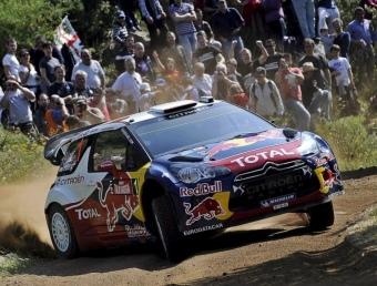 Loeb, en la primera etapa del Ral·li de Sardenya Foto:EFE