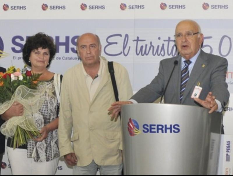 Arribada a El Prat del turista 25 milions de Serhs.