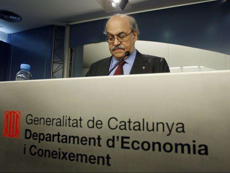 El conseller Mas-Colell ha presentat les dades de l'informe de Deloitte sobre les finances públiques Foto:L'ECONÒMIC / ORIOL DURAN