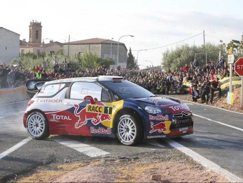 Sébastien Loeb traça un revolt en un tram d'ahir Foto:DIMAS BALAGUER