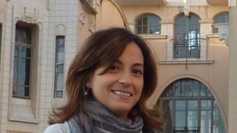 Iolanda Pineda, ahir a la tarda, a Girona. Foto:J.T