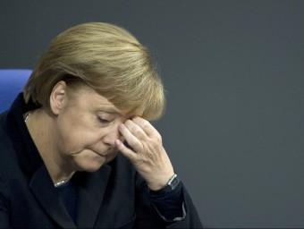 La cancellera Angela Merkel ha vist com els mercats maltractaven el deute alemany.  Foto:ARXIU