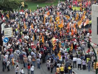 Concentració i manifestació contra la reforma laboral i les mesures econòmiques del govern zapatero