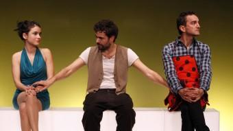El trio protagonista de 'Cock'. Foto:LA MARRONETA