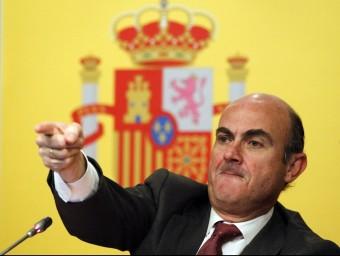 El ministre d'Economia, Luis de Guindos, ha presentat la reforma financera.  Foto:ARXIU