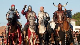 Alguns dels cavallers que seran a la Rambla. Foto:ARXIU