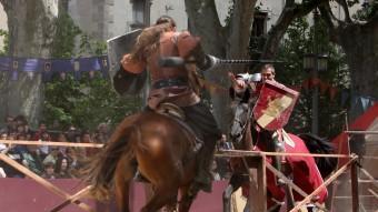 Una escena de les justes, ahir a la Rambla de Figueres. Foto:JOAN SABATER