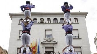 La diada castellera de Figueres. Foto:LLUÍS SERRAT