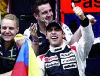 Maldonado, diumenge al Circuit de Catalunya Foto:EFE