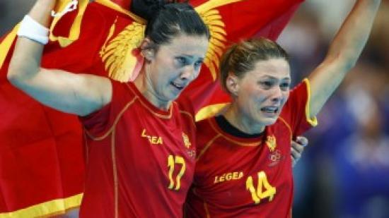 Jugadores de Montenegro celebren el subcampionat olímpic Foto:EL 9