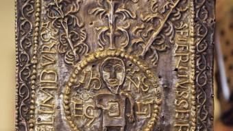 L'Ara Portàtil de Sant Pere de Rodes una de les relíquies que exposa el Museu d'Art. . Foto:MANEL LLADÓ PEP IGLESIAS