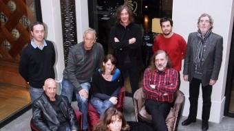 Els cantants que han intervingut en el debat sobre cultura al Presència, dins la sèrie Diàlegs a l'España Foto:ANDREU PUIG