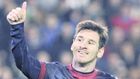 Messi somriu en celebrar un gol. Un gest que s'ha repetit 91 vegades al llarg de l'any 2012. Foto:EFE
