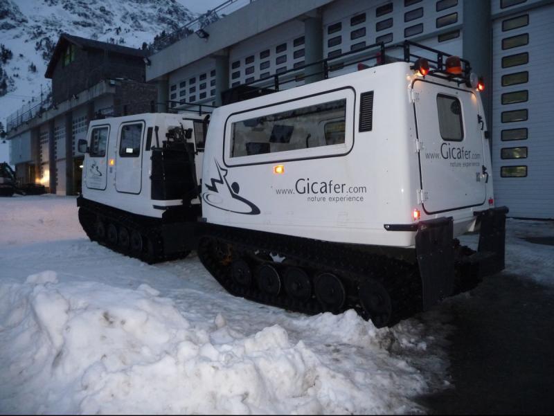 El Gicafer és un vehicle amfibi adaptat per la neu. Foto:M.M