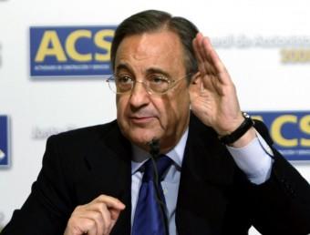Florentino Pérez, en una reunió amb inversors