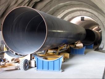 Túnel i canonada de connexió de les xarxes d'aigües del Ter i el Llobregat, a Collserola Foto:ACN