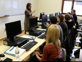 El 2012 mig milió d'empreses van formar els seus treballadors.  Foto:ARXIU
