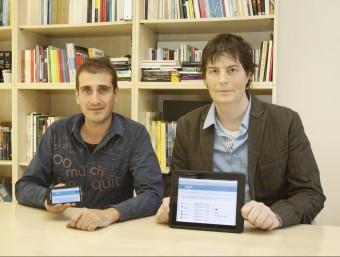 Eduard Pujol i Ramon Besora, els dos emprenedors que han creat Docpopuli.  Foto:SAGI SERRA