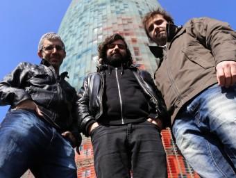José Maria Carrasco, Xavi Forné i Ramon Aused, impulsors del projecte.  Foto:Q.P