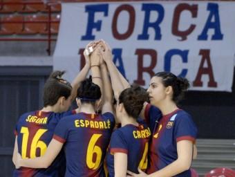 Les jugadores blaugrana es conjuren per almenys allargar la sèrie Foto:CVB BARÇA